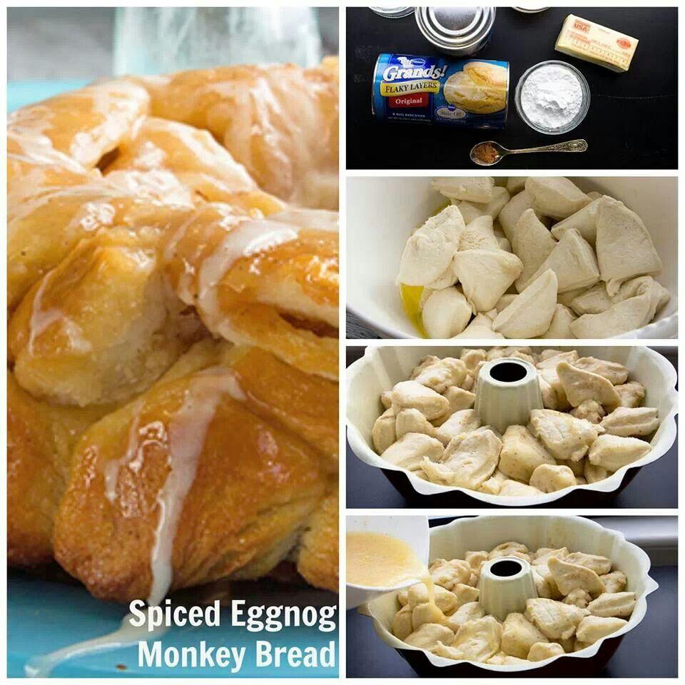 Eggnog monkey bread!! | Food | Pinterest