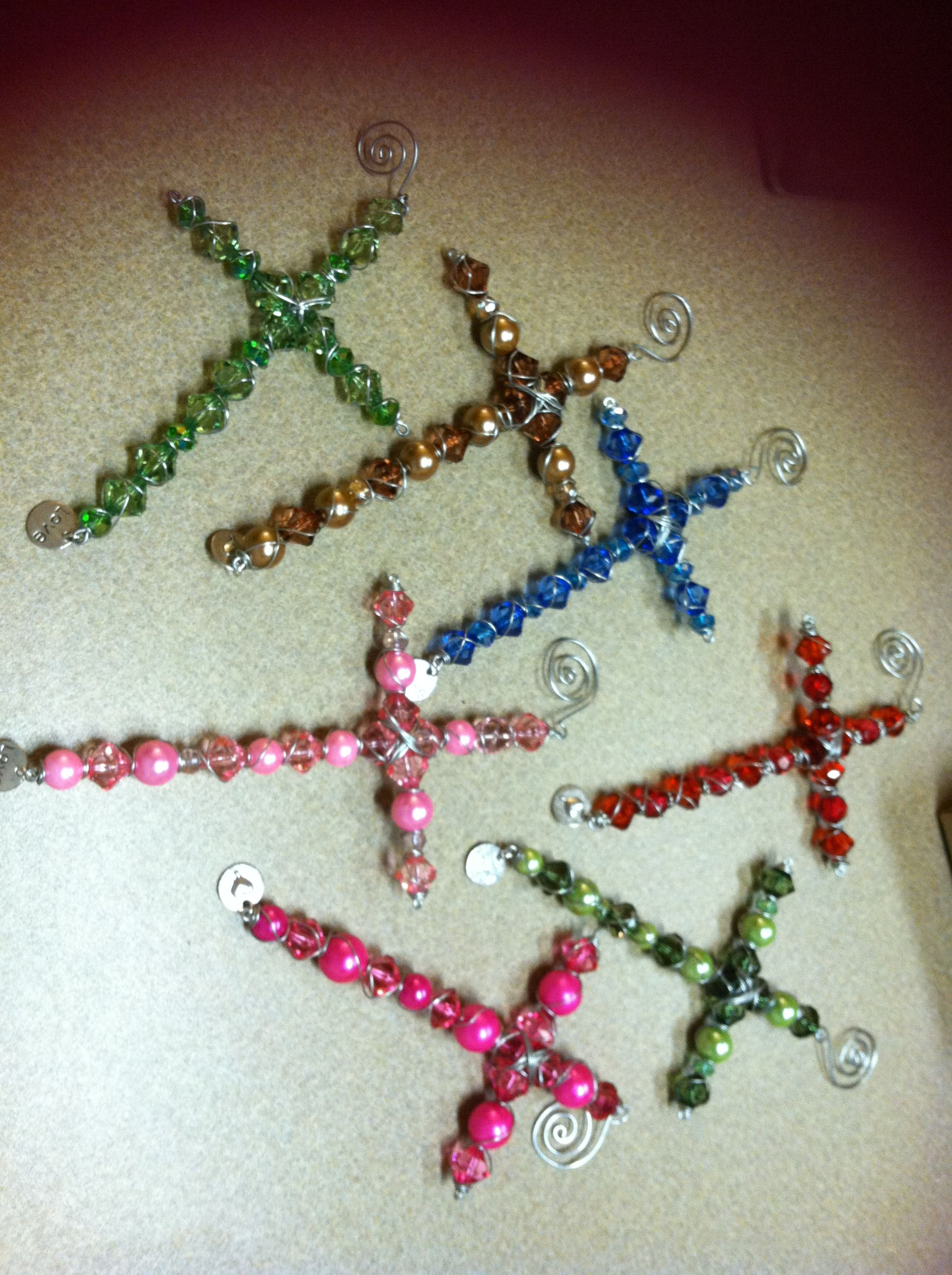 beaded crosses wrapped with wire craft ideas i like