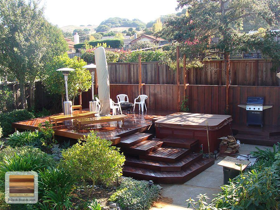 deck and hot tub?  Pools & Decks  Pinterest
