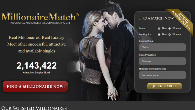 Online dating for rich people