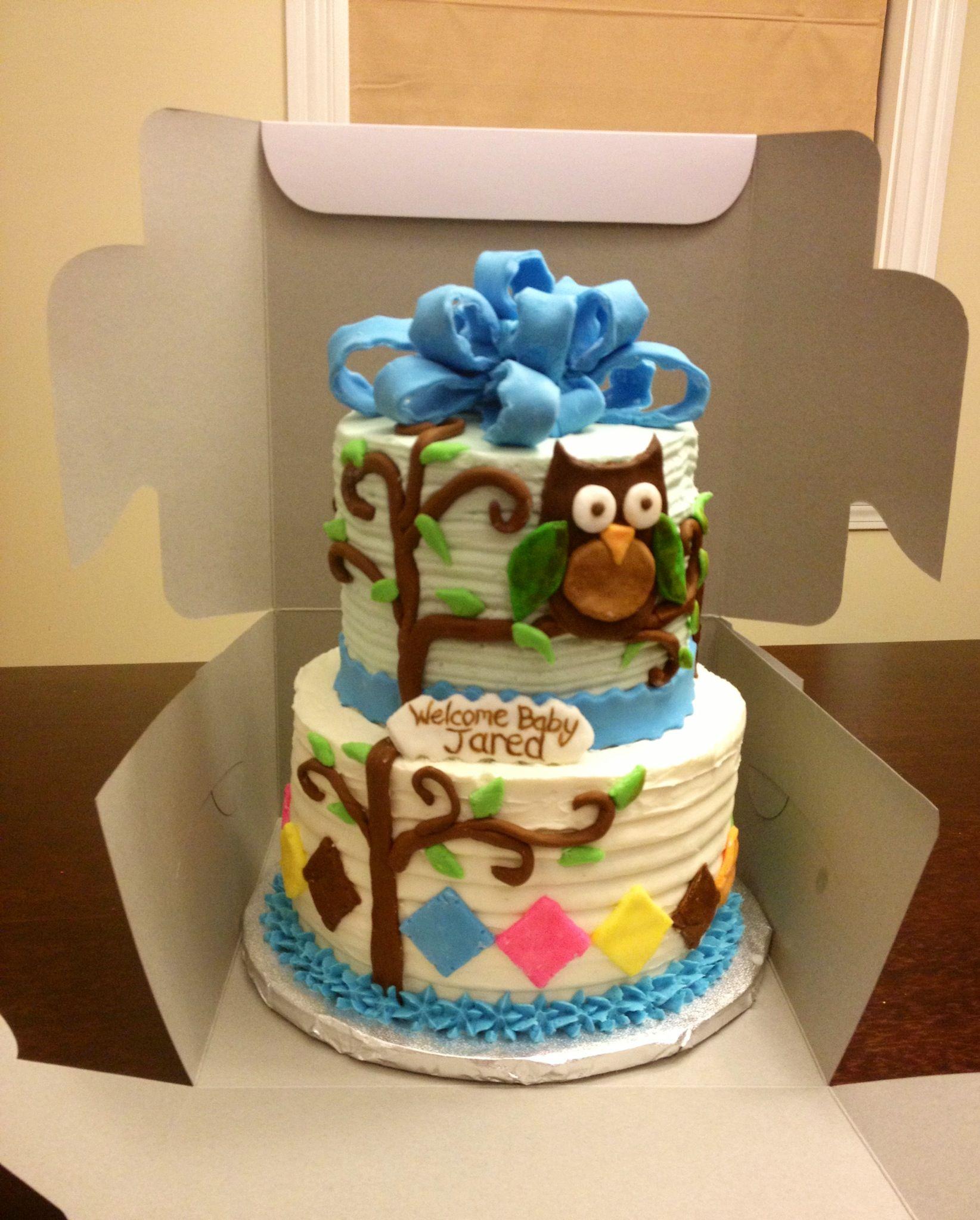 owl baby shower cake baby shower pinterest