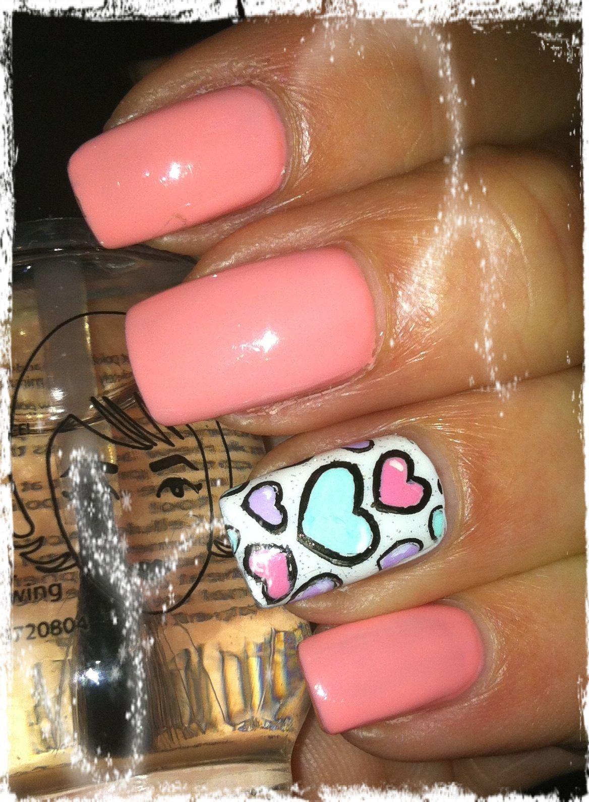 valentine nail art pinterest
