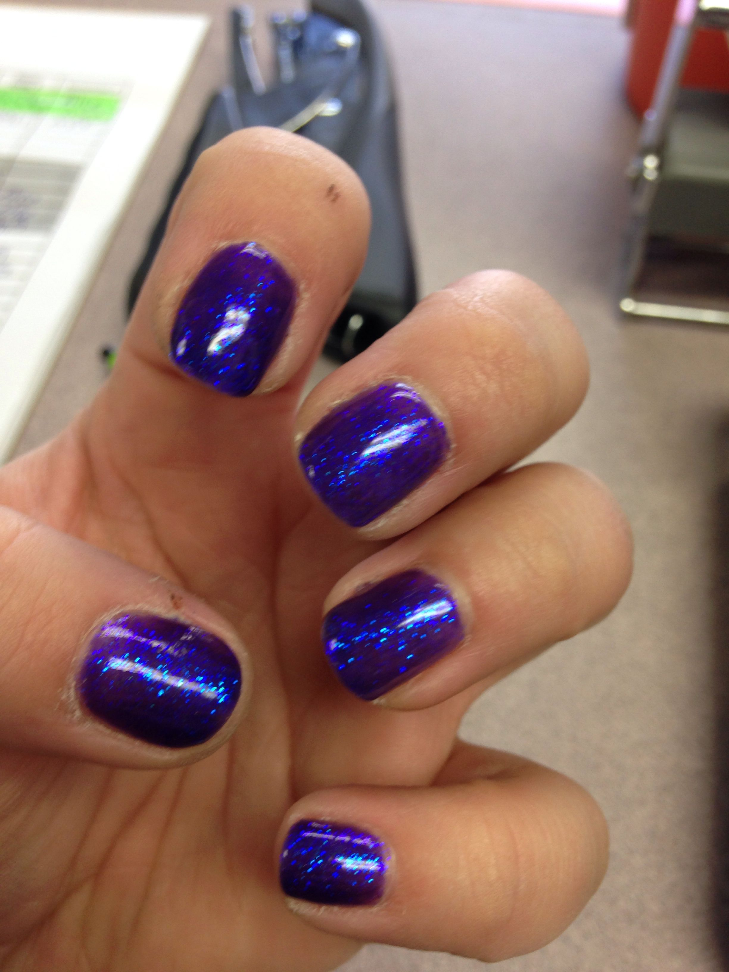 Shellac nails with glitter overlay | Nails | Pinterest