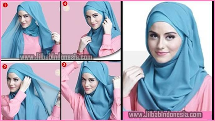 Islamic outfit hijab pashmina chiffon