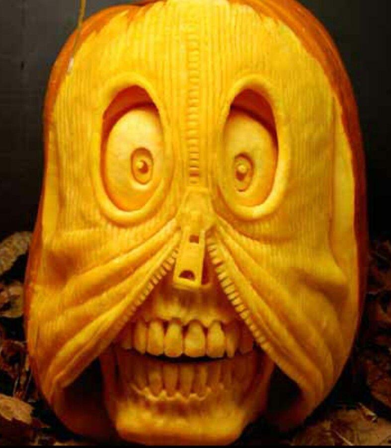 Awesome Pumpkin Carving Amazing 3d Art Pinterest