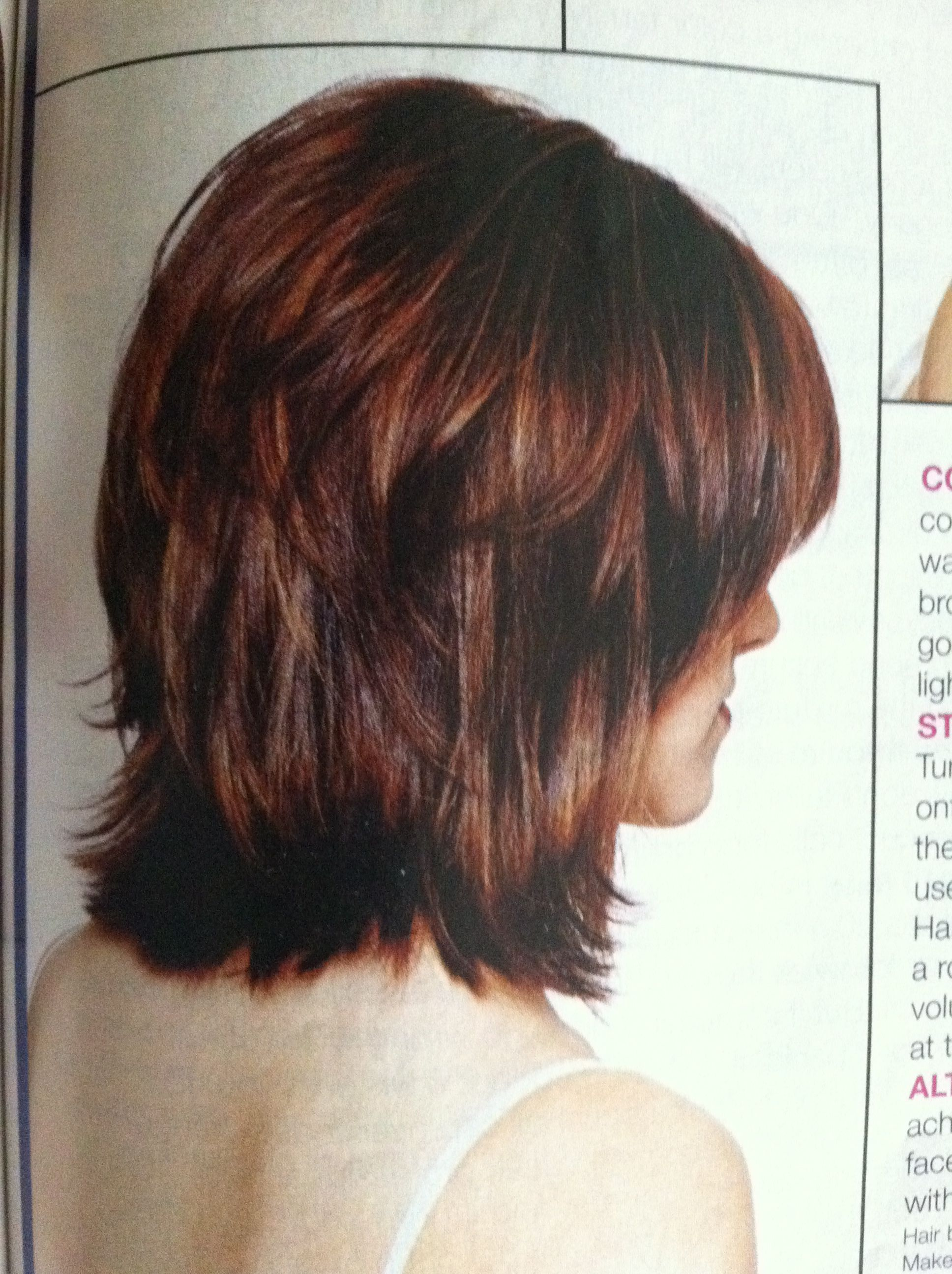 Back of Layered Pageboy Haircut