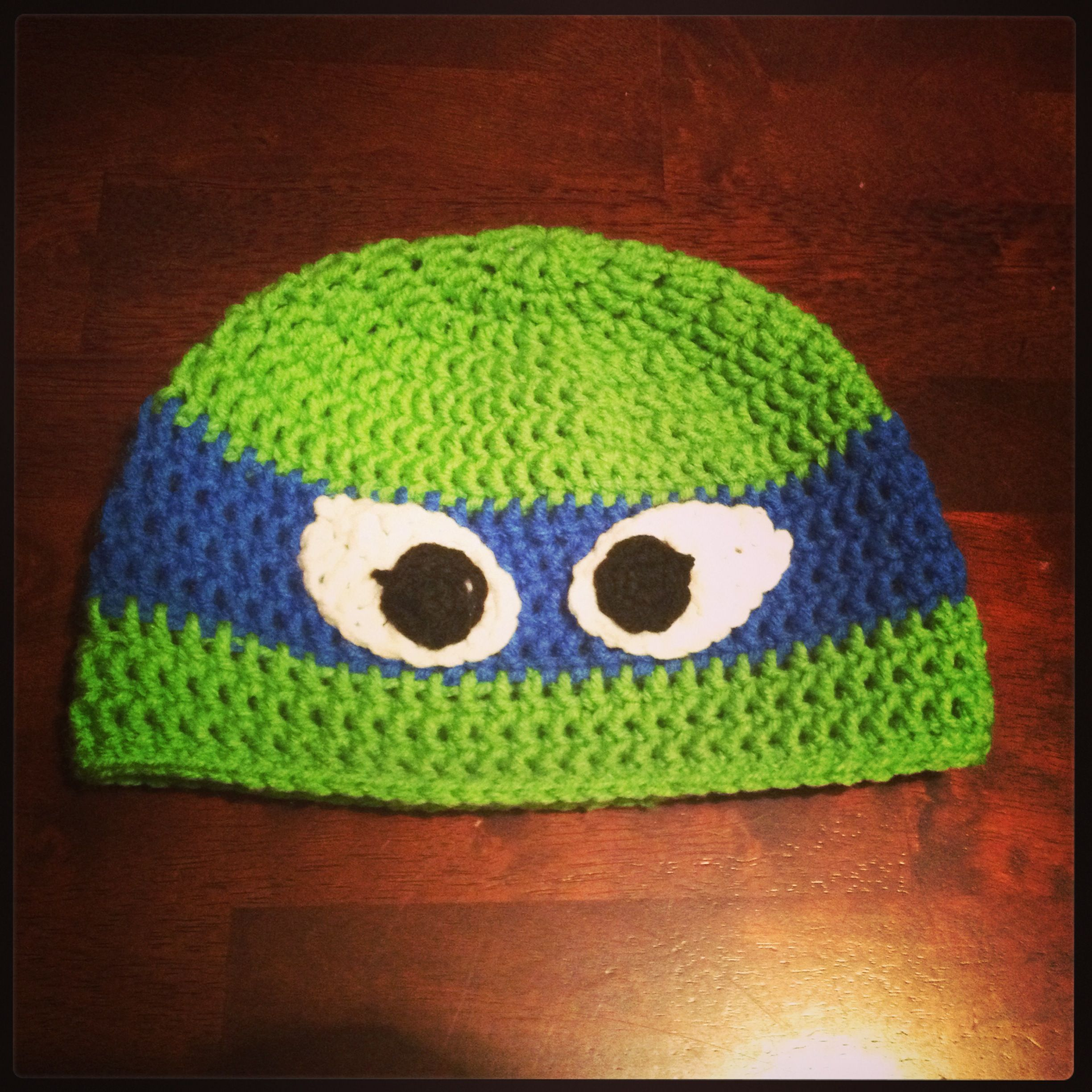 Crochet Ninja Turtle : Crochet Ninja Turtle Hat Leonardo!! Teenage mutant ninja turtles ...