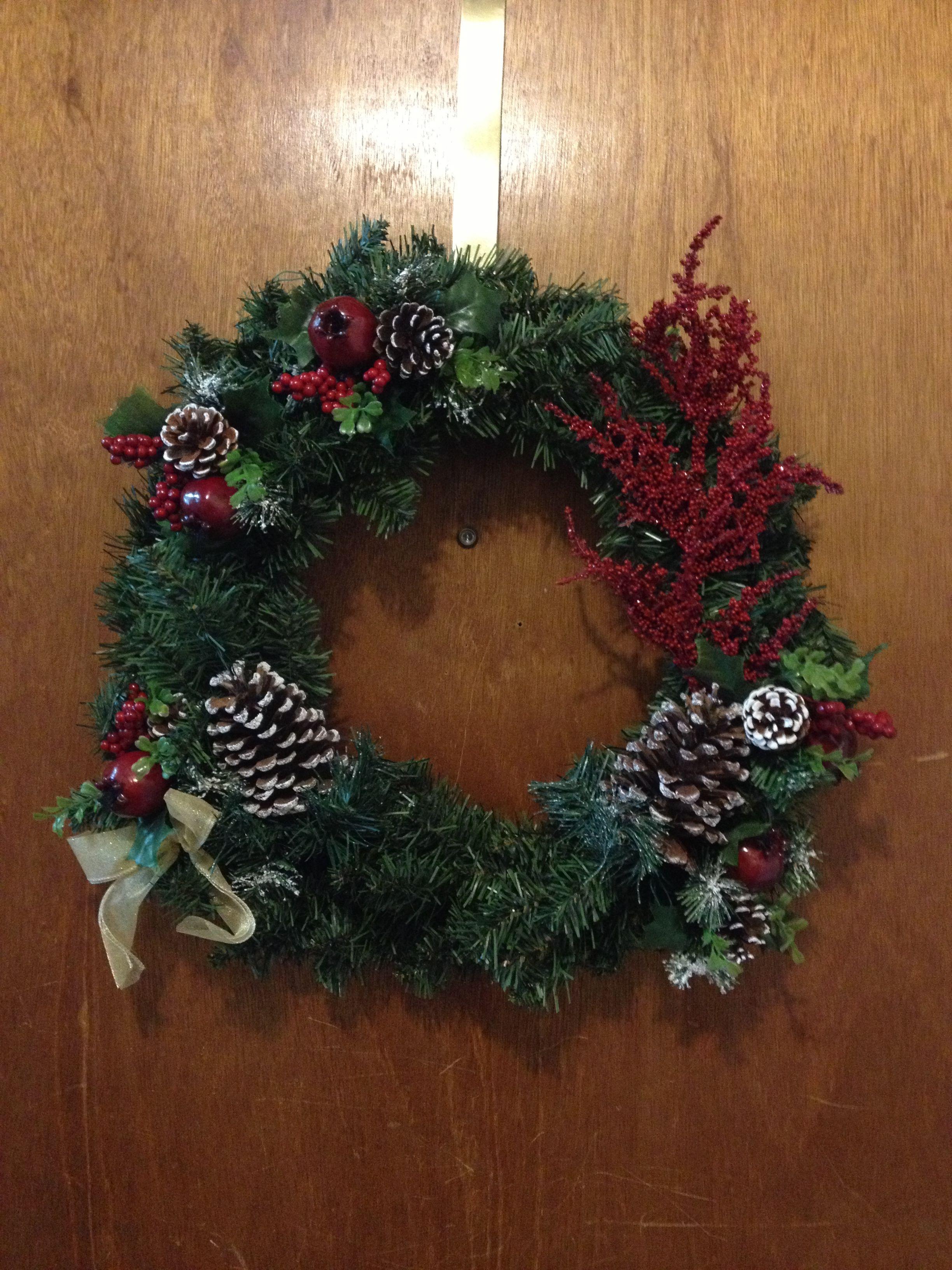 ChristmasWreathForTheHomePinterest