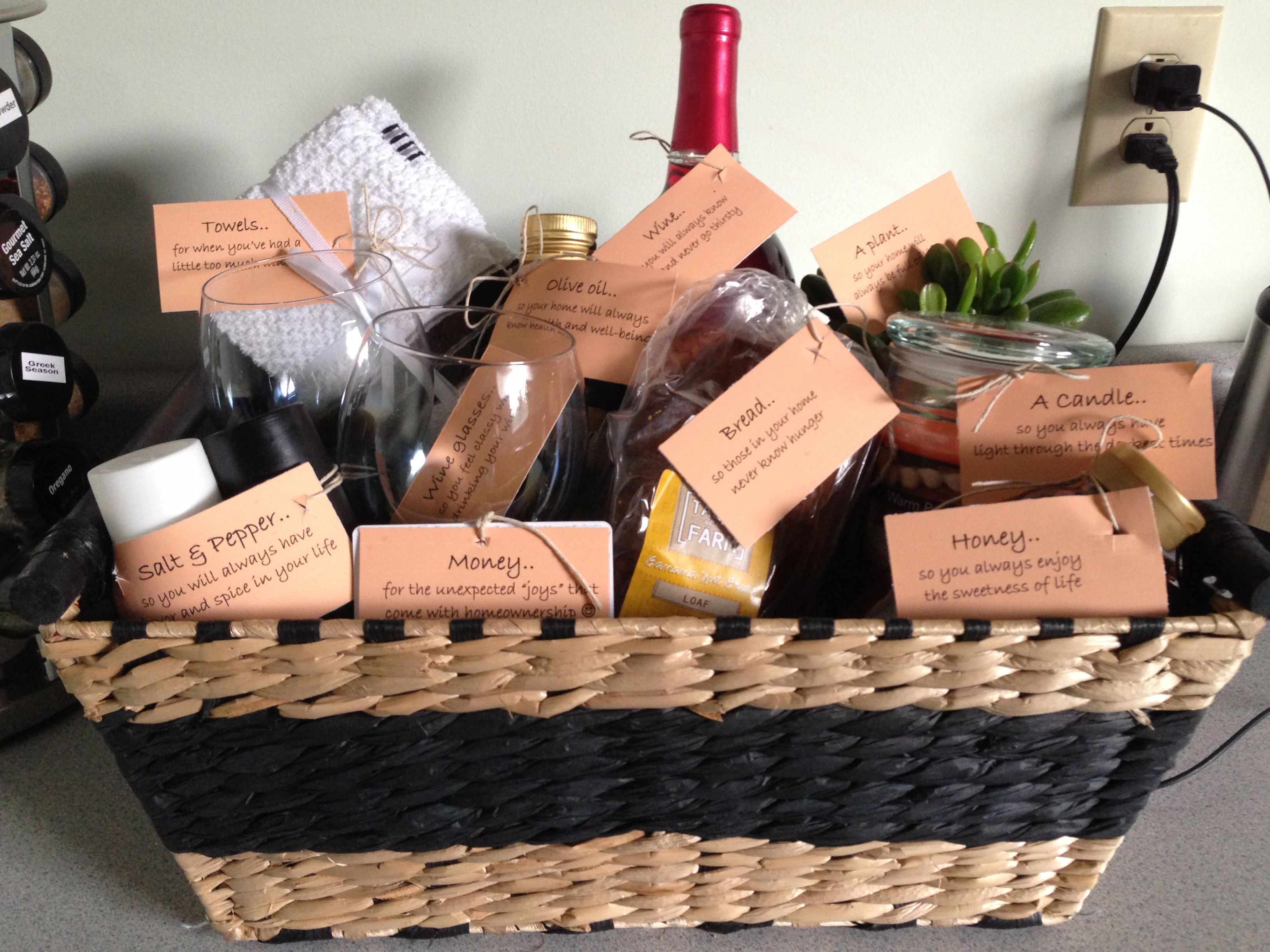 Housewarming gift basket craft pinterest House warming present
