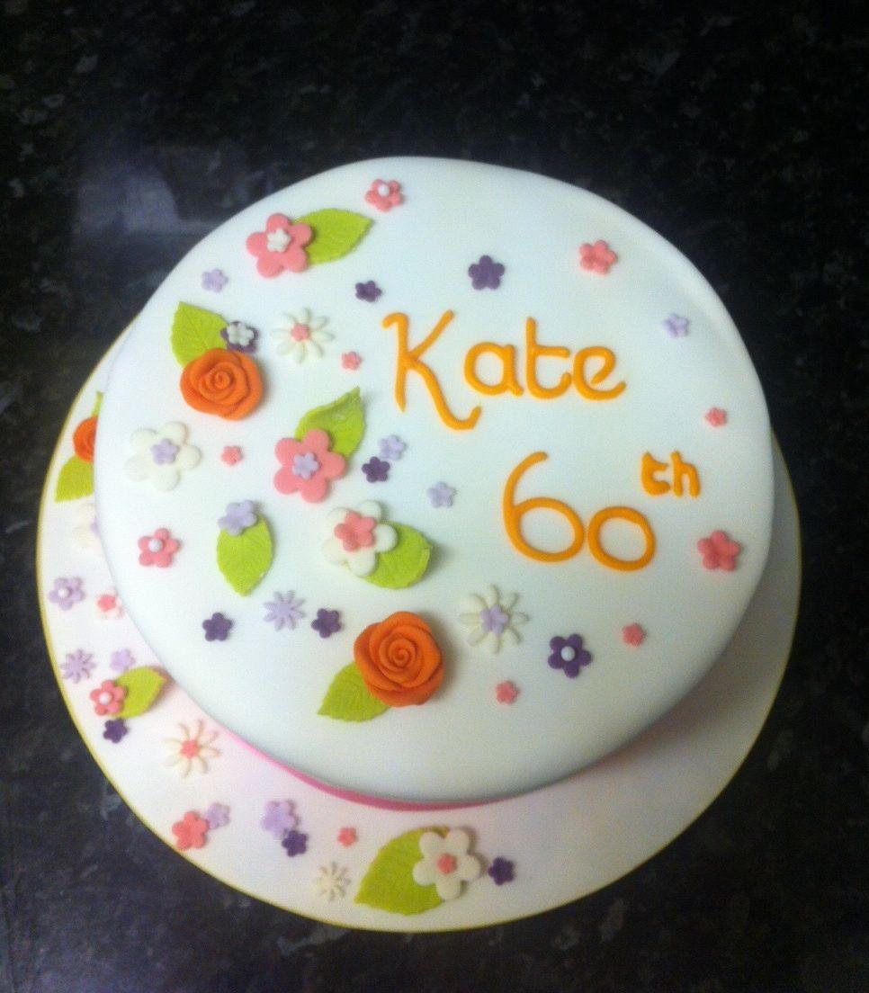 Cake Designs For 60th Birthday : 60th Birthday cake Cake Decorating Pinterest