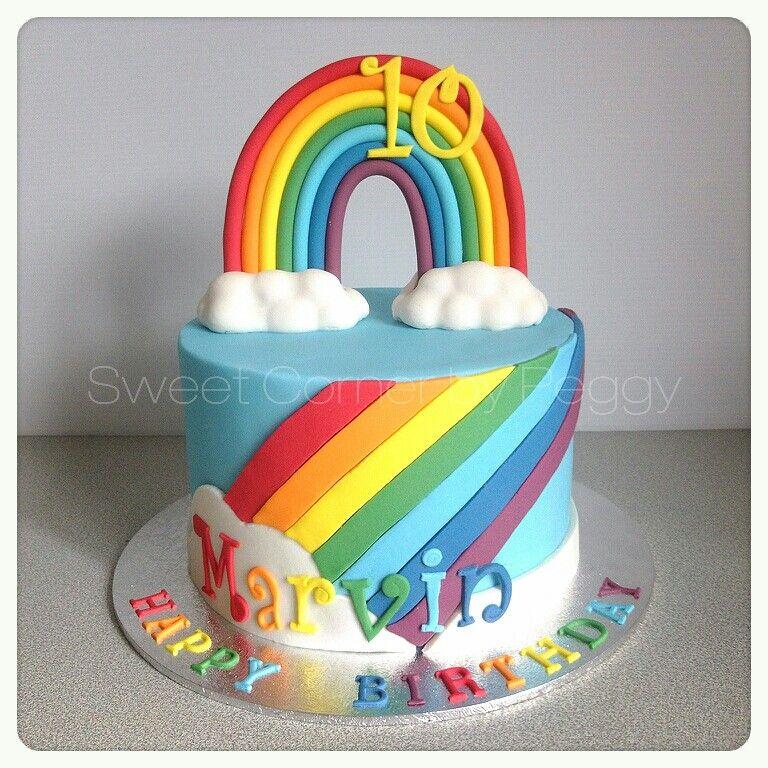 Rainbow fondant cake Fondant Fever Pinterest