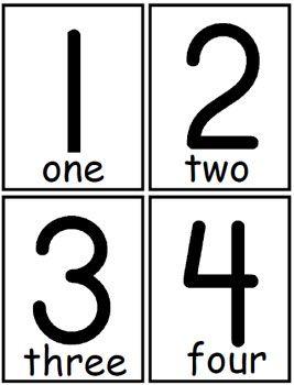 Printable Number Cards – March 2017 Calendar