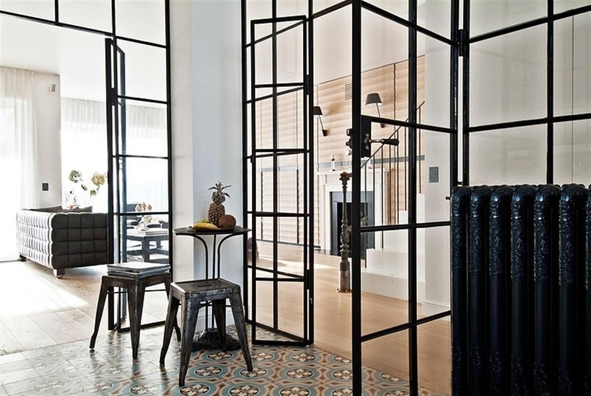 803 #7D644E Metal Frame Door Interior Design Pinterest image Glass And Steel Doors 39231200
