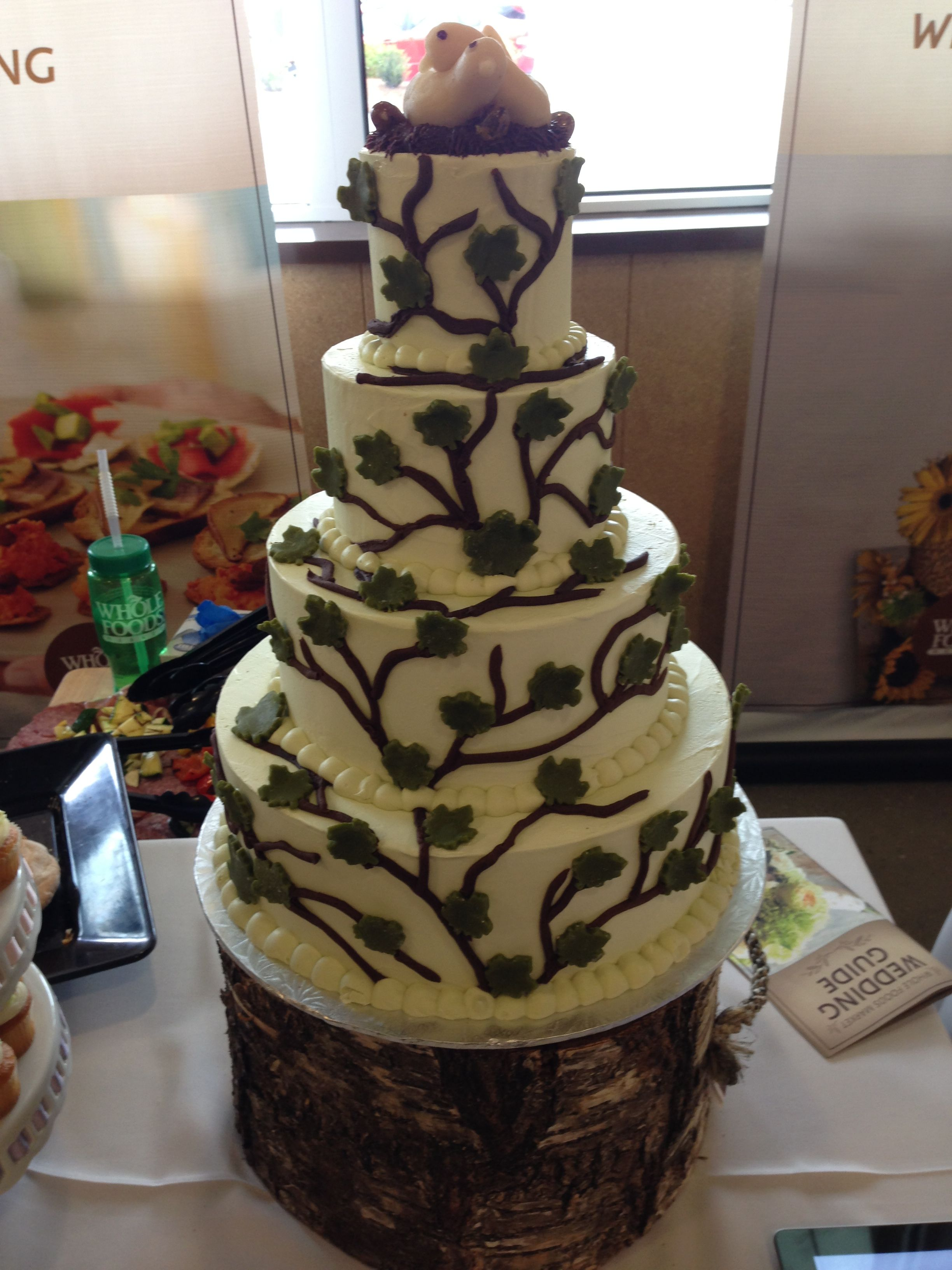 whole foods market wedding cake cakes pinterest. Black Bedroom Furniture Sets. Home Design Ideas