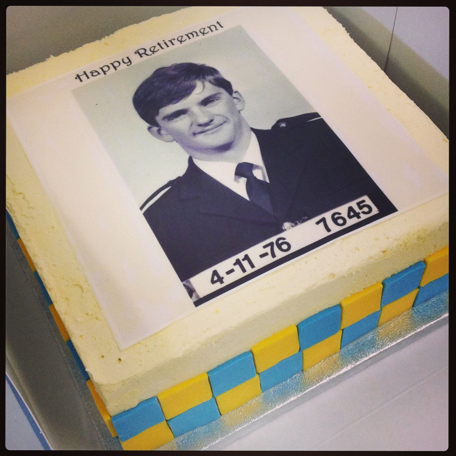 Police Officer Retirement Cake Party/Event Ideas Pinterest
