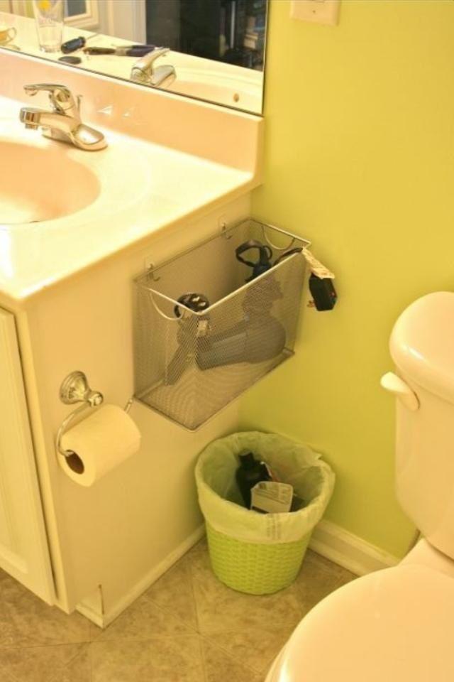 Hair Dryer Straightener Storage At Home Badev Relse Bathroom