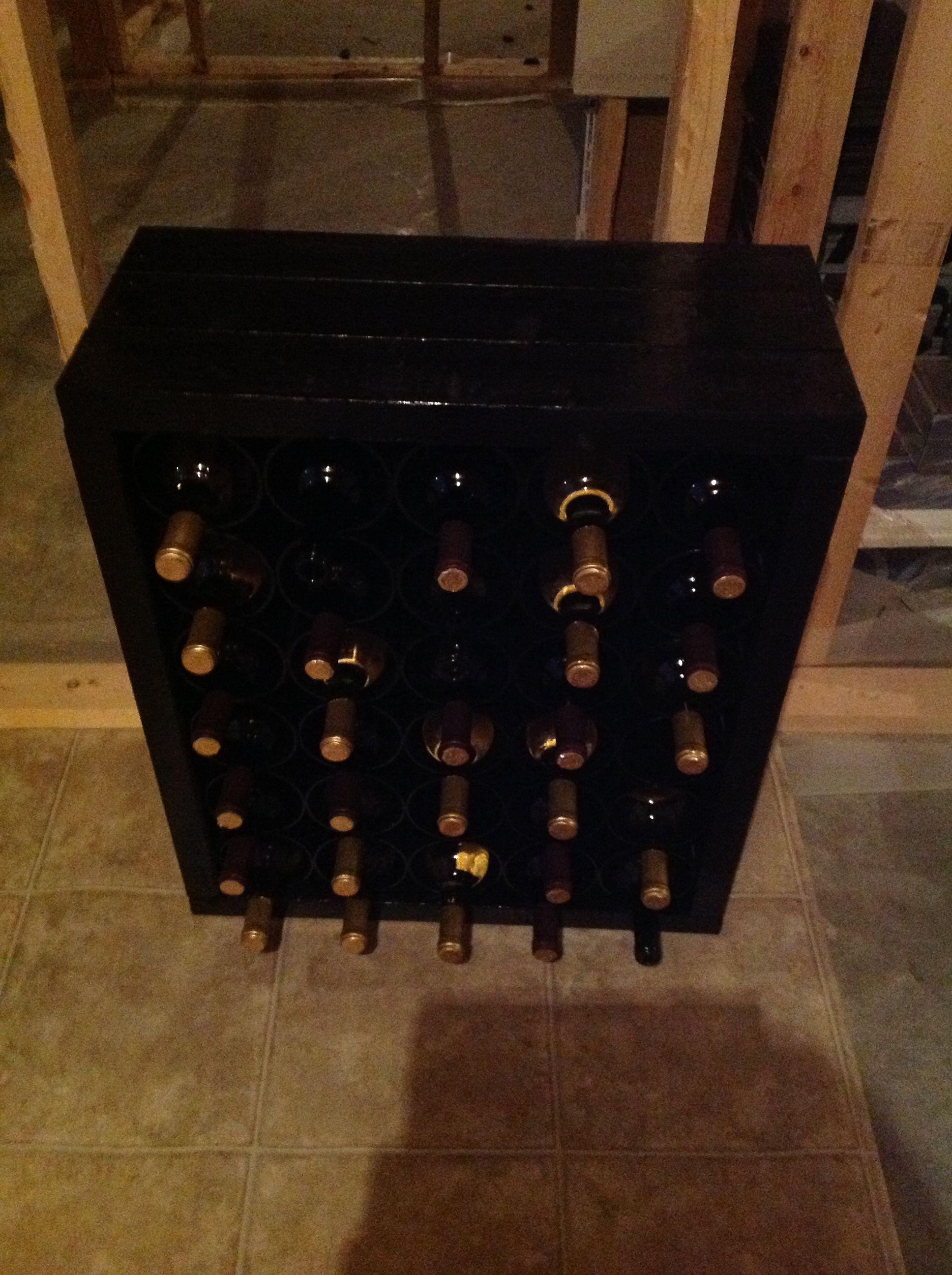 20 best photo of homemade wine racks ideas tierra este for Easy wine rack