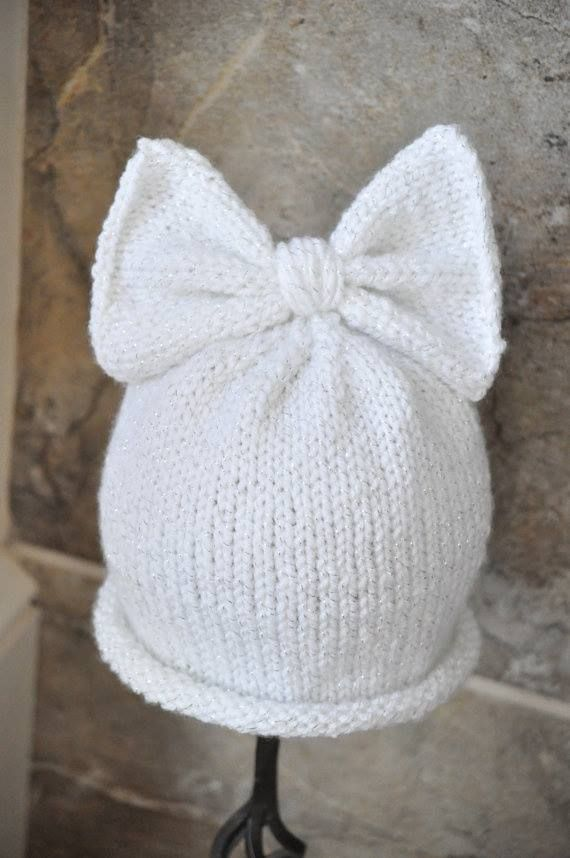 how to knit a baby hat with flower 3d