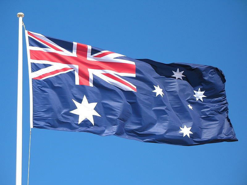 australia day flag raising ceremony canberra 2014