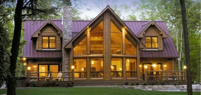 Like the windows and dormers log home pinterest for Windows for log homes