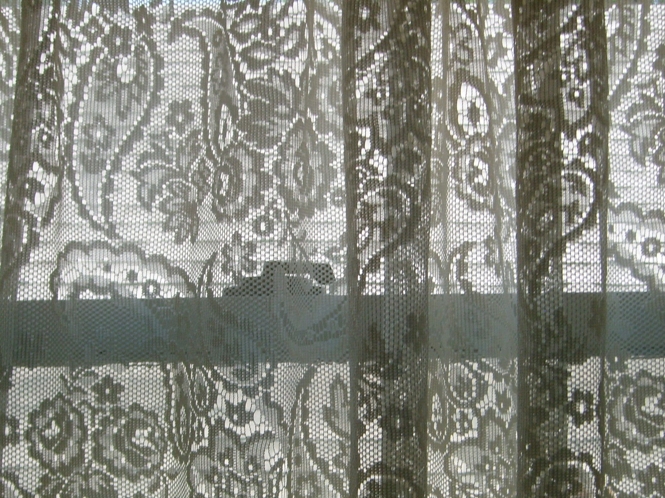 vintage lace curtain panels love