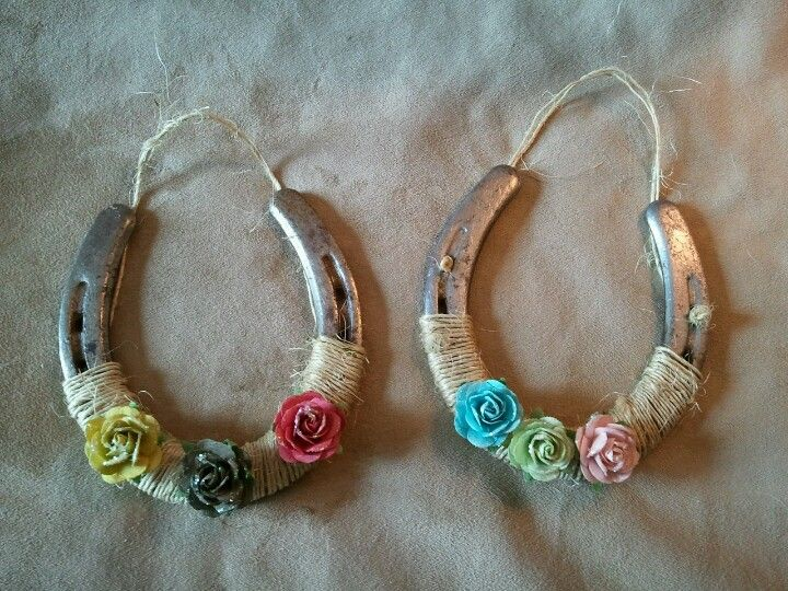 Recycled horseshoes | horse shoe crafts | Pinterest