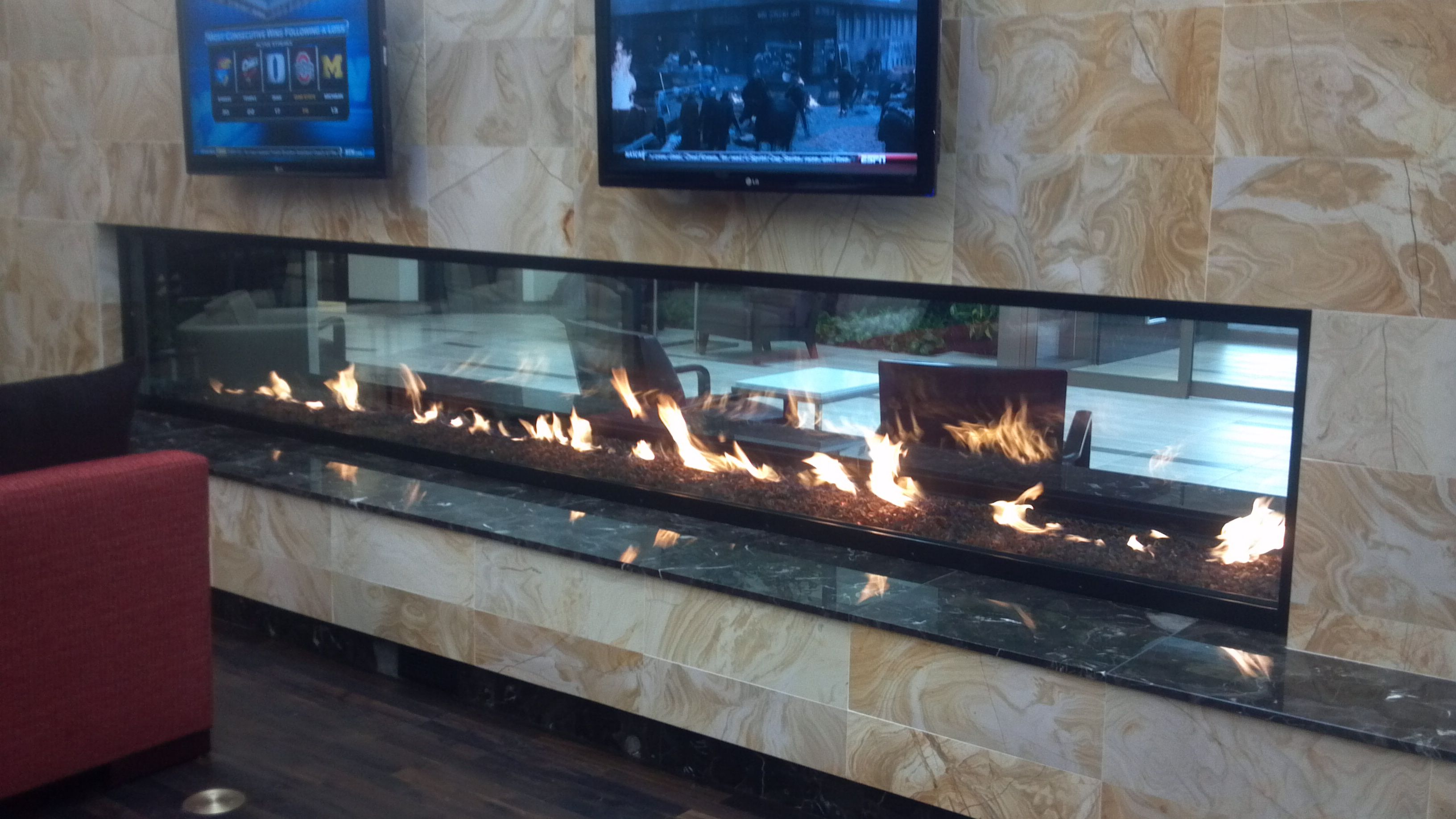 Custom See Through Gas Fireplace Cool Fireplaces Pinterest