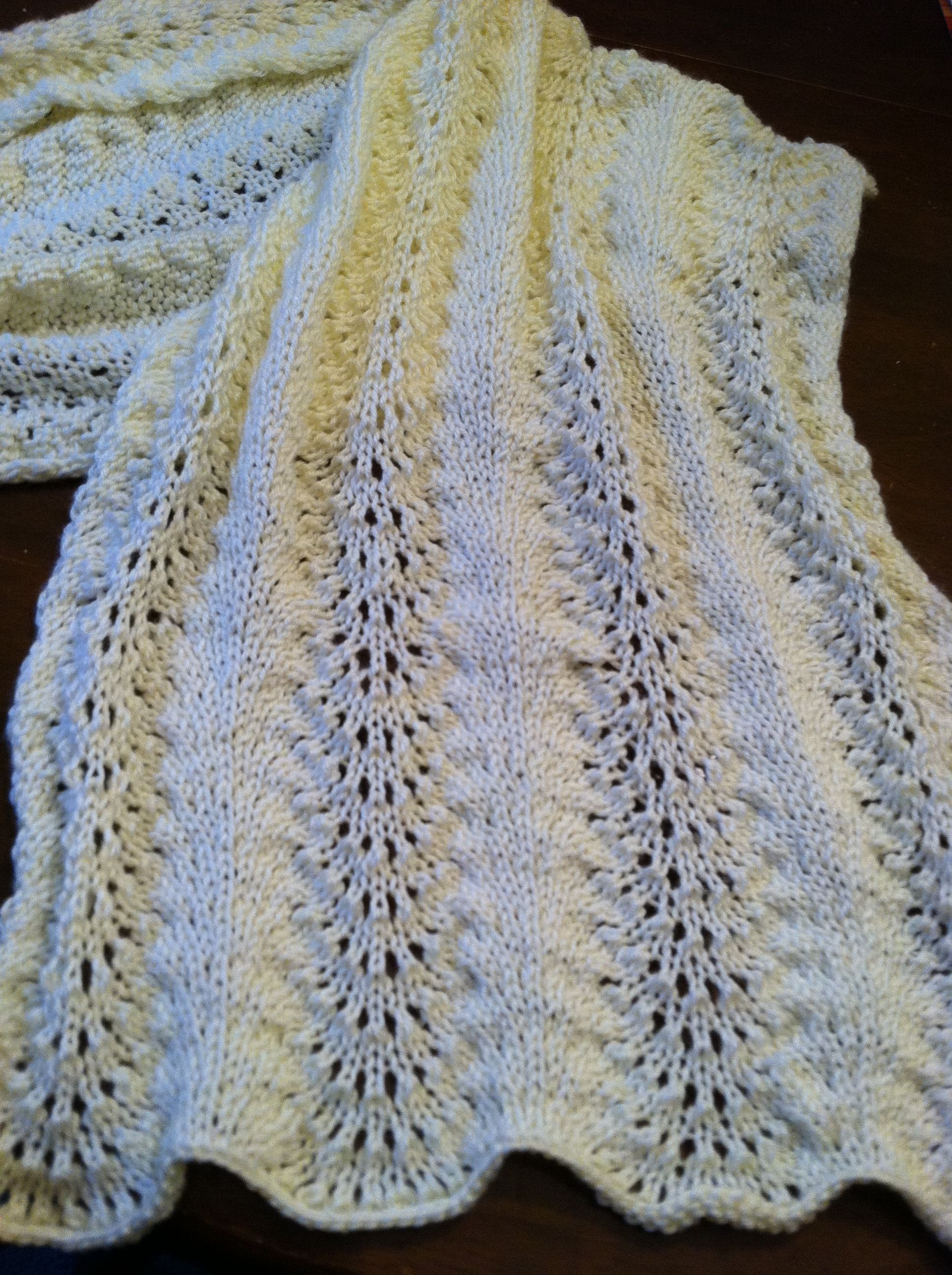 Easy prayer shawl I finished. Crochet Craft Ideas ...