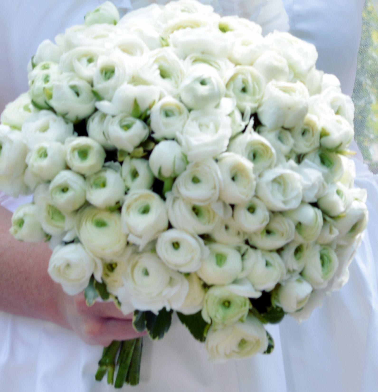 White ranunculus wedding bouquet don t tell doug flowers