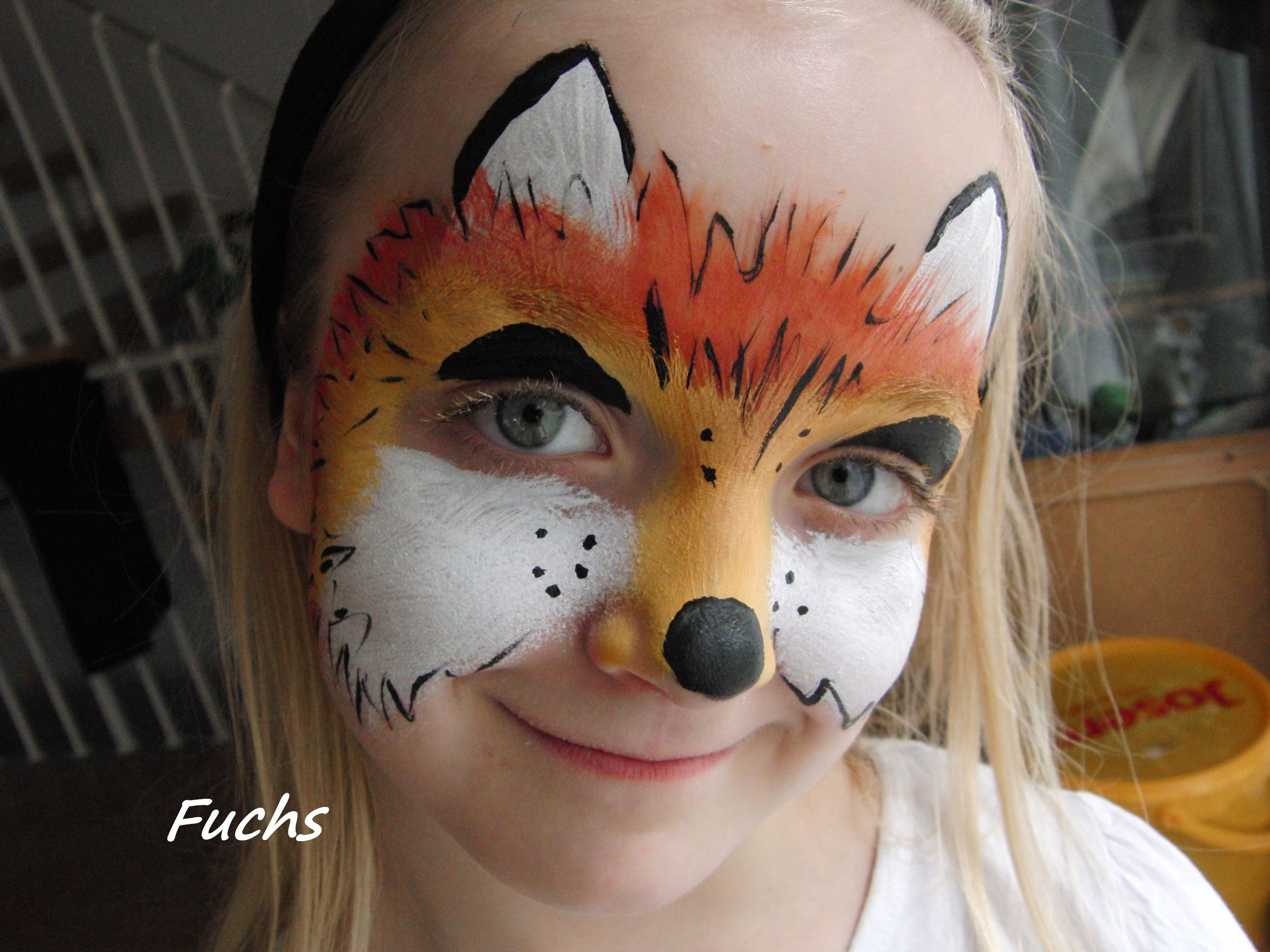 face painting ms fox face painting kinderschminken pinterest. Black Bedroom Furniture Sets. Home Design Ideas