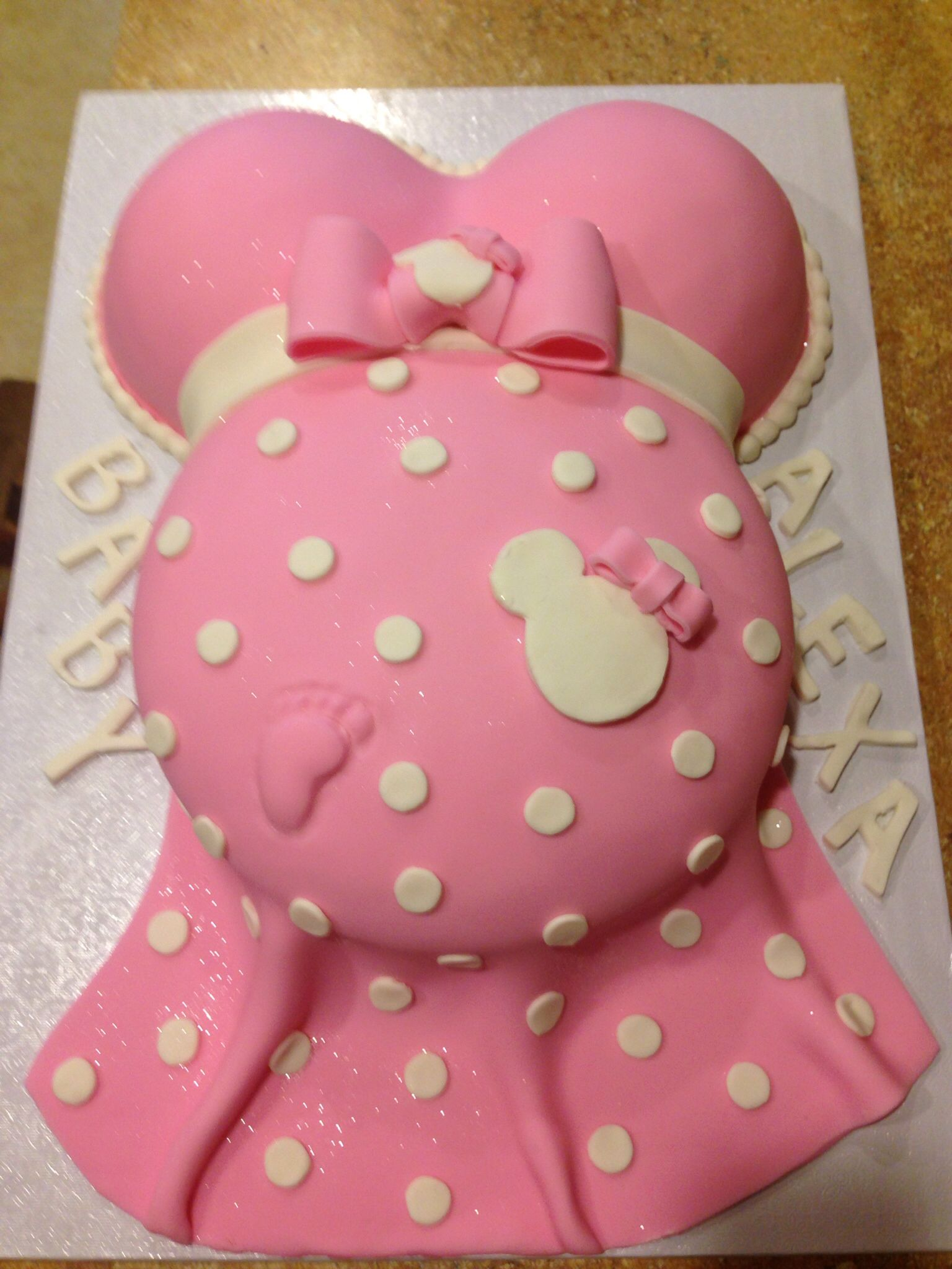 prego minnie mouse cake minnie mouse baby shower ideas pinterest
