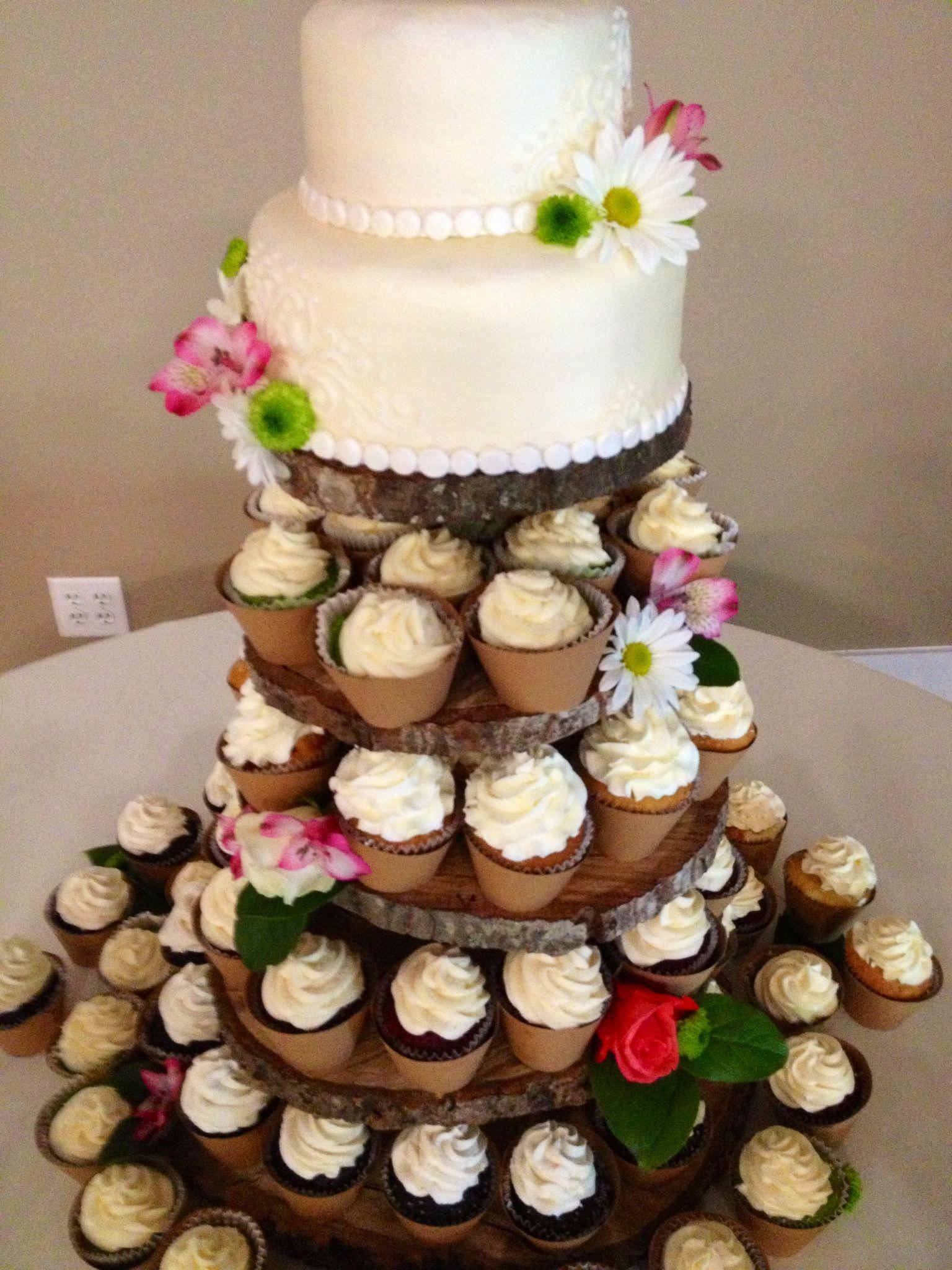 Rustic Wedding Cupcake Cake Wedding Ideas