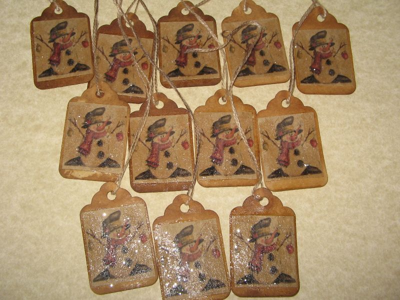 primitive gift tags | Christmas paper crafts | Pinterest