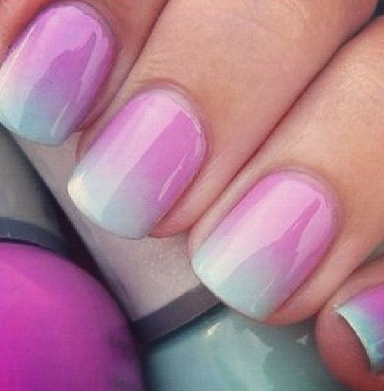 summer 2014 nail trends, makeup monday, gradient nails, ombré nails, ombre