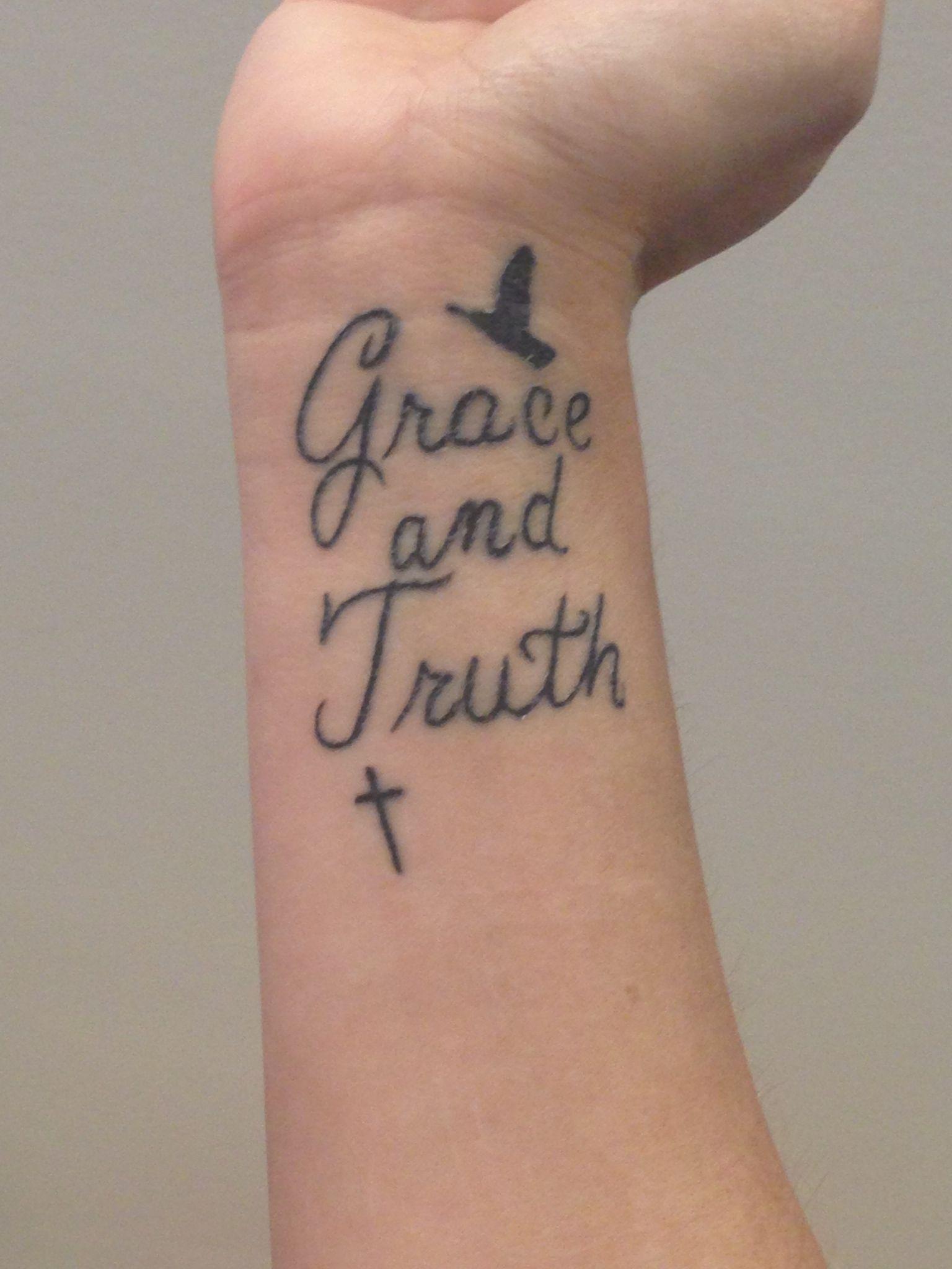 Grace and Faith | Finger/Wrist Tattoos | Pinterest
