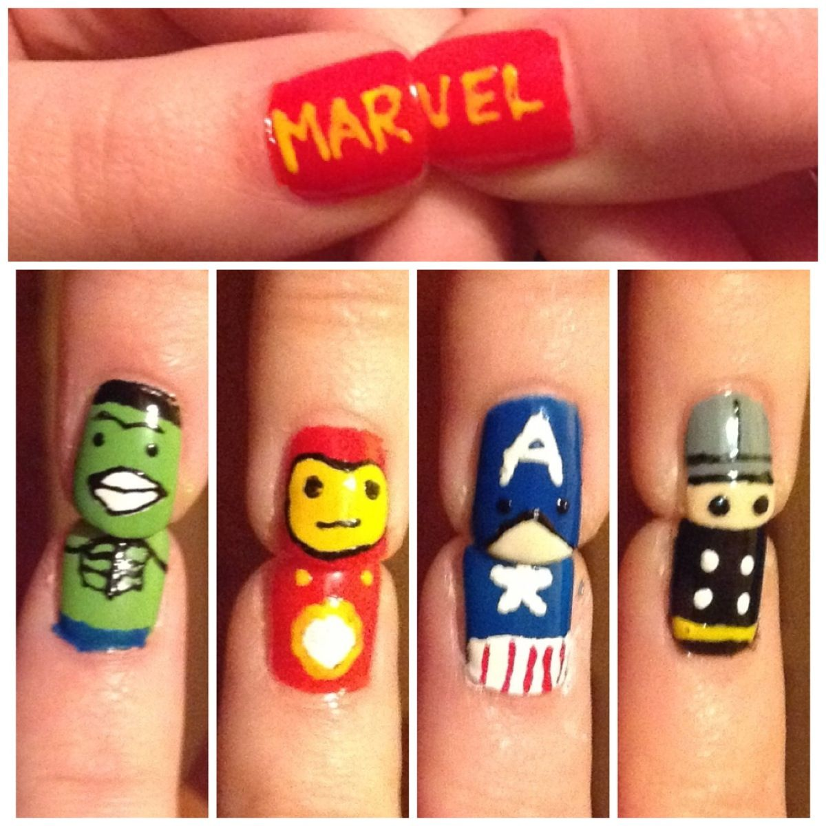 Marvel nail art  My Style  Pinterest