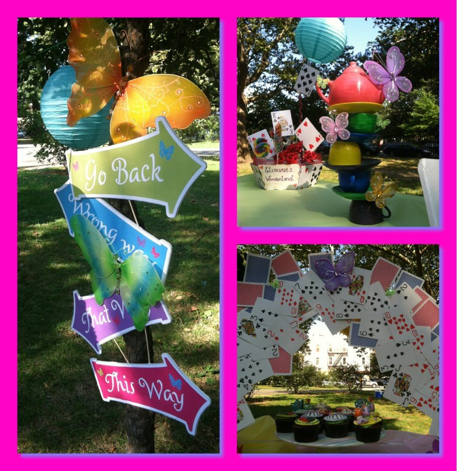 Alice in wonderland party ideas kids combined party 2014 for Alice in wonderland party decoration ideas