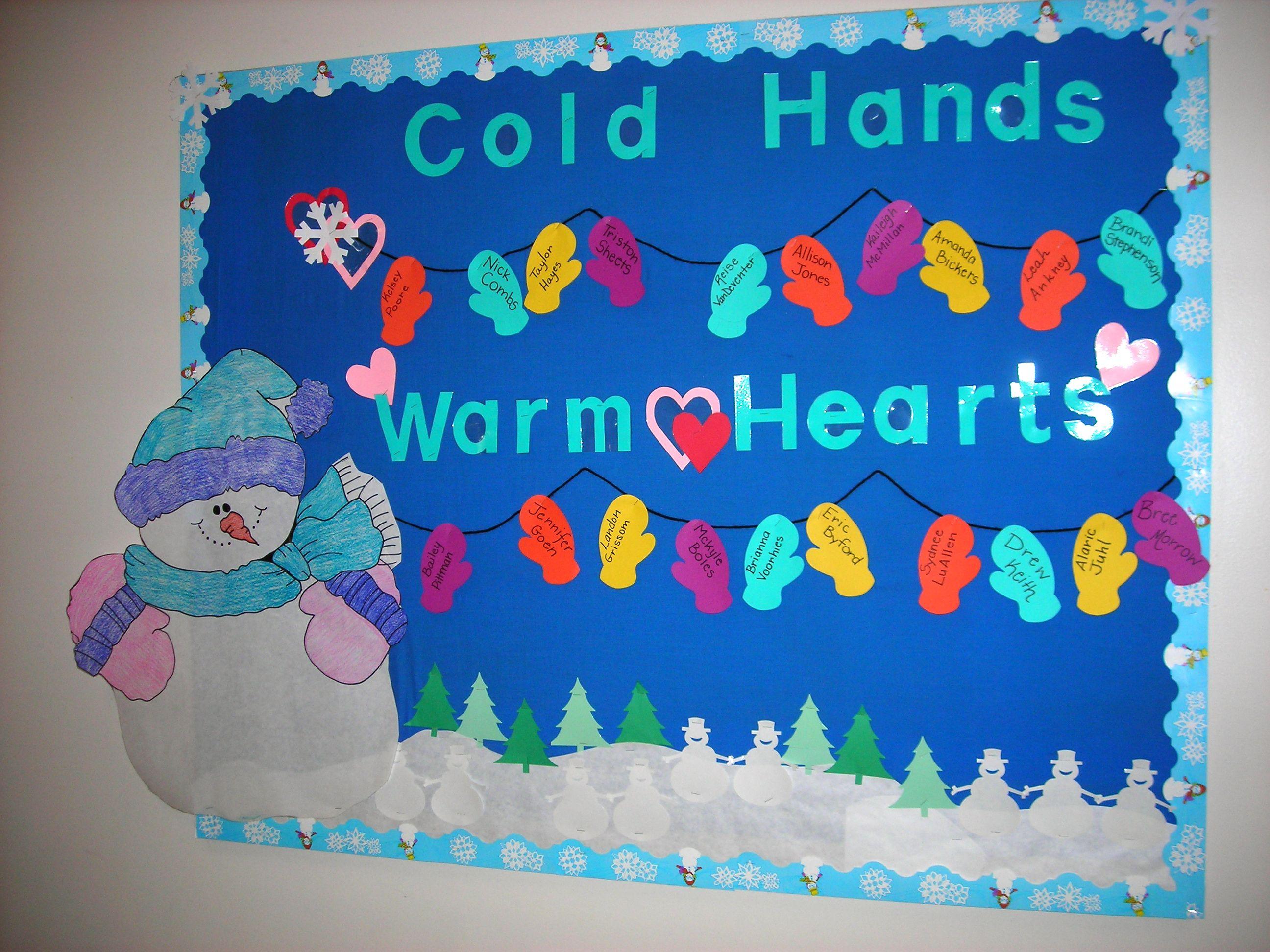 Warm Winter bulletin board idea | Teaching Ideas | Pinterest
