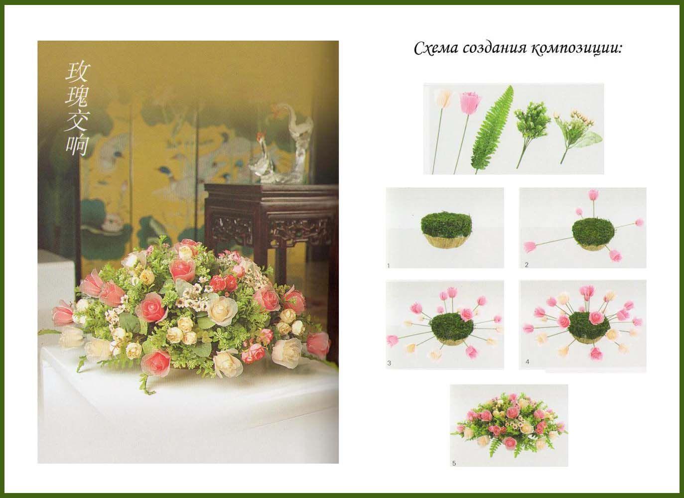 Композиция из искусственных цветов своими руками мастер класс 32