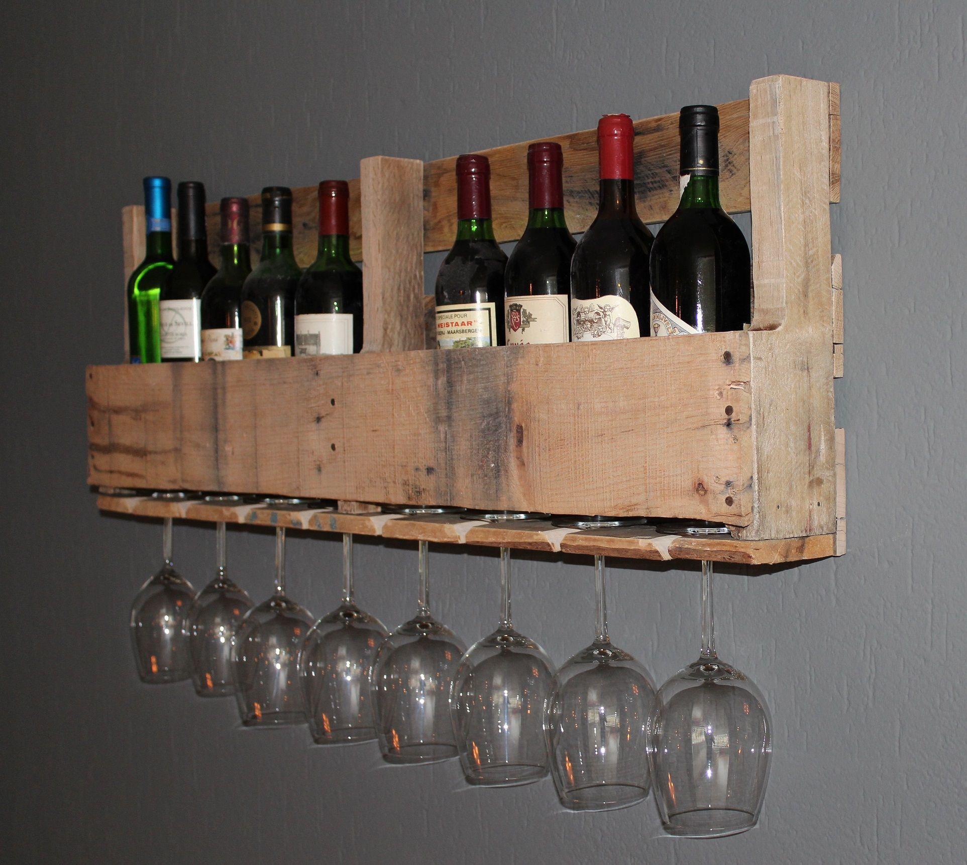 Wine rack old pallet wood home sweet home pinterest for Old wine rack