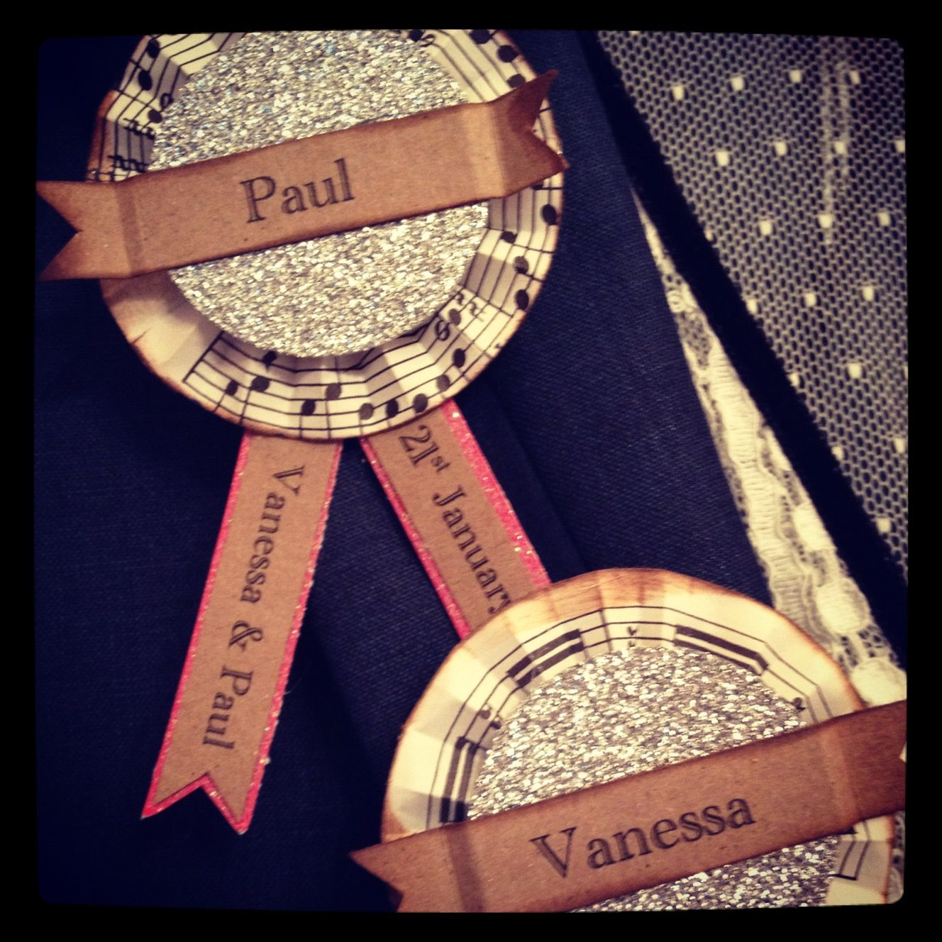 Rosette name badges | VANESSA SHELDRICK & PAUL BOWDEN ...