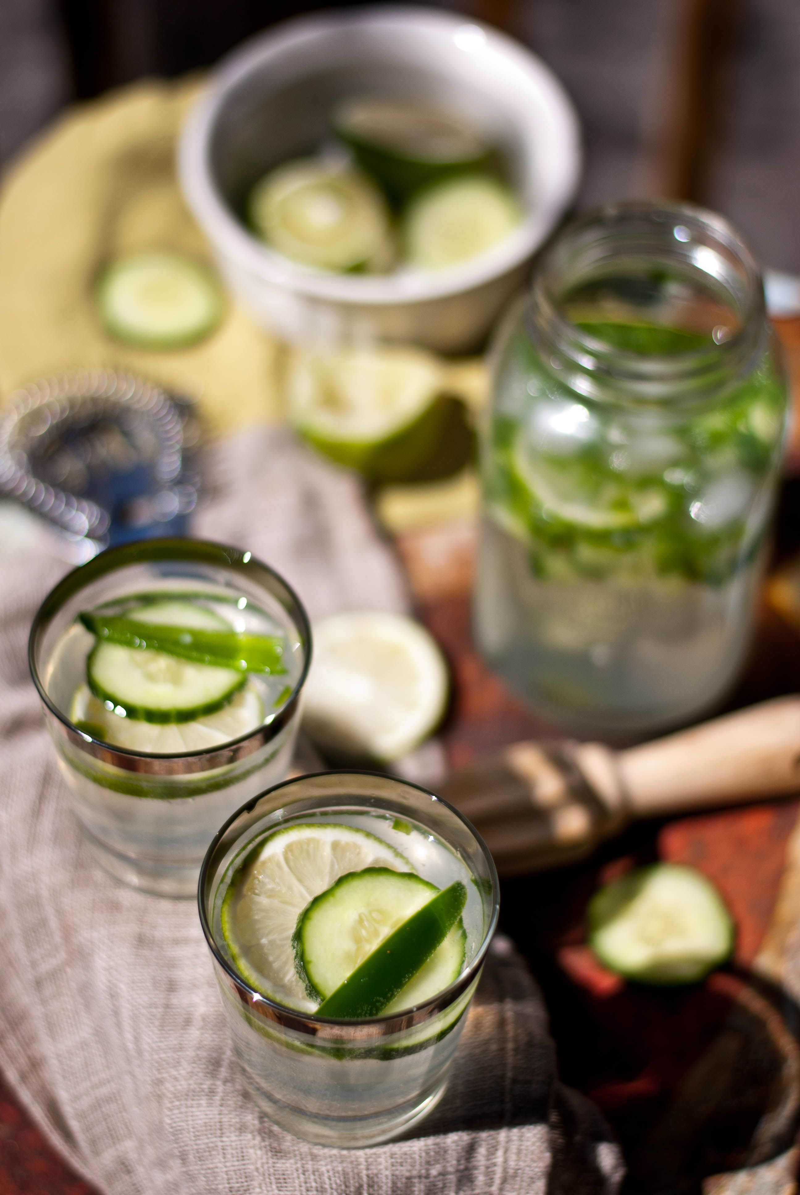 Jalapeno/Lime/Cucumber Infused Gin Fizz | Food & Drinks | Pinterest