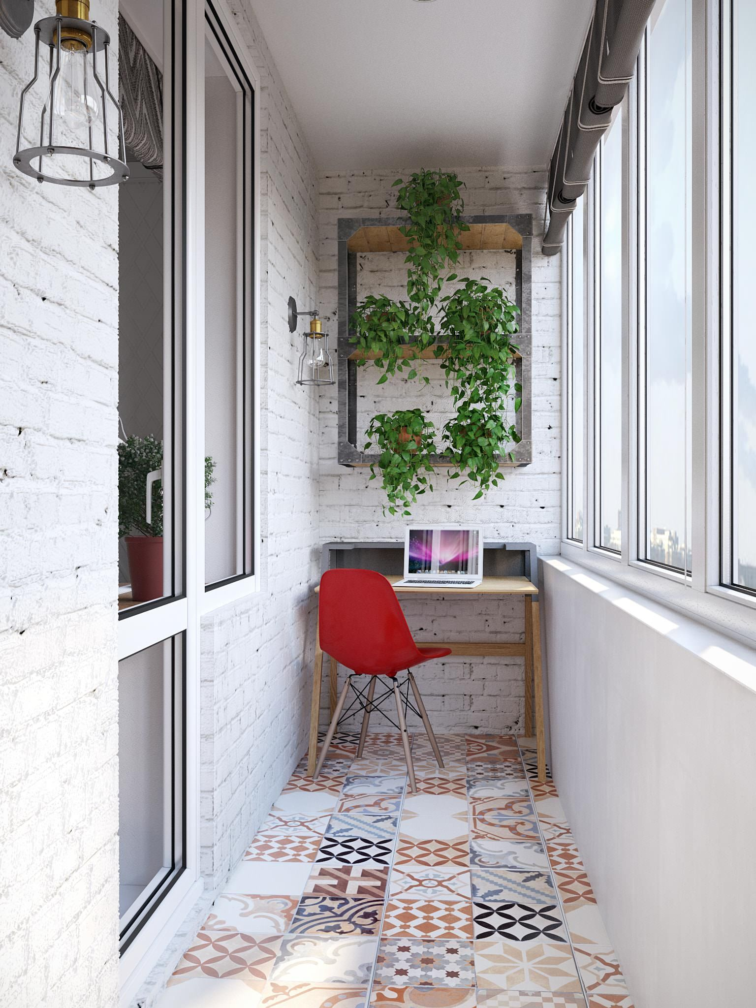 10 уютных и стильных балконов.