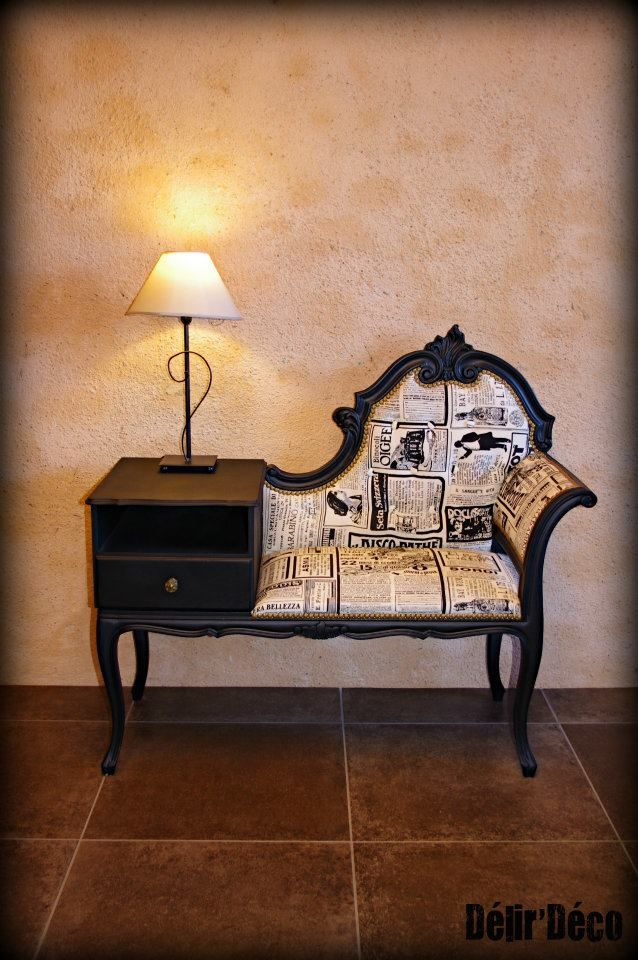 A Fabulous Telephone Table Asientos Old New Pinterest