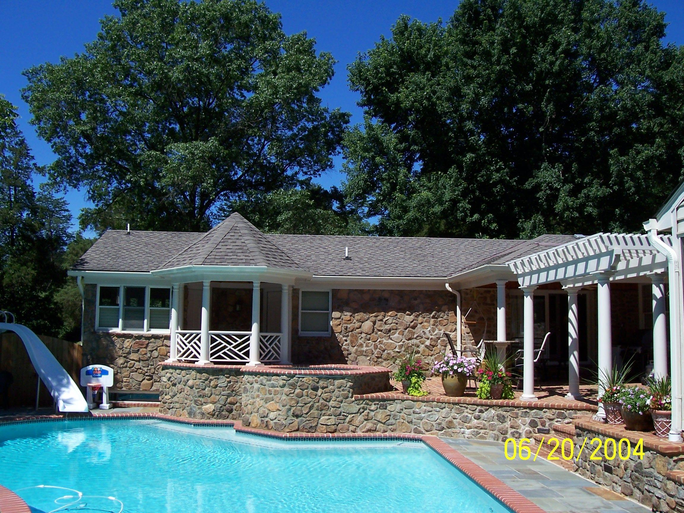 Custom Exterior Gazebo And Pool Custom Home Exteriors