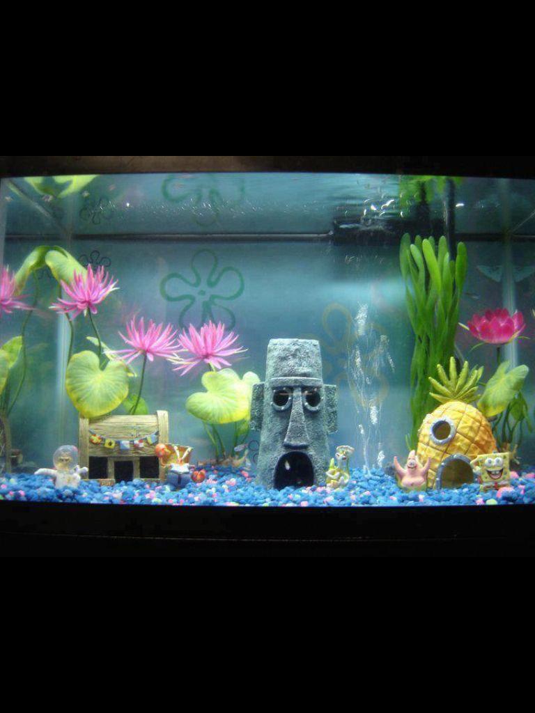 Awesome idea! Without Sponge Bob fish tank/aquarium Pinterest