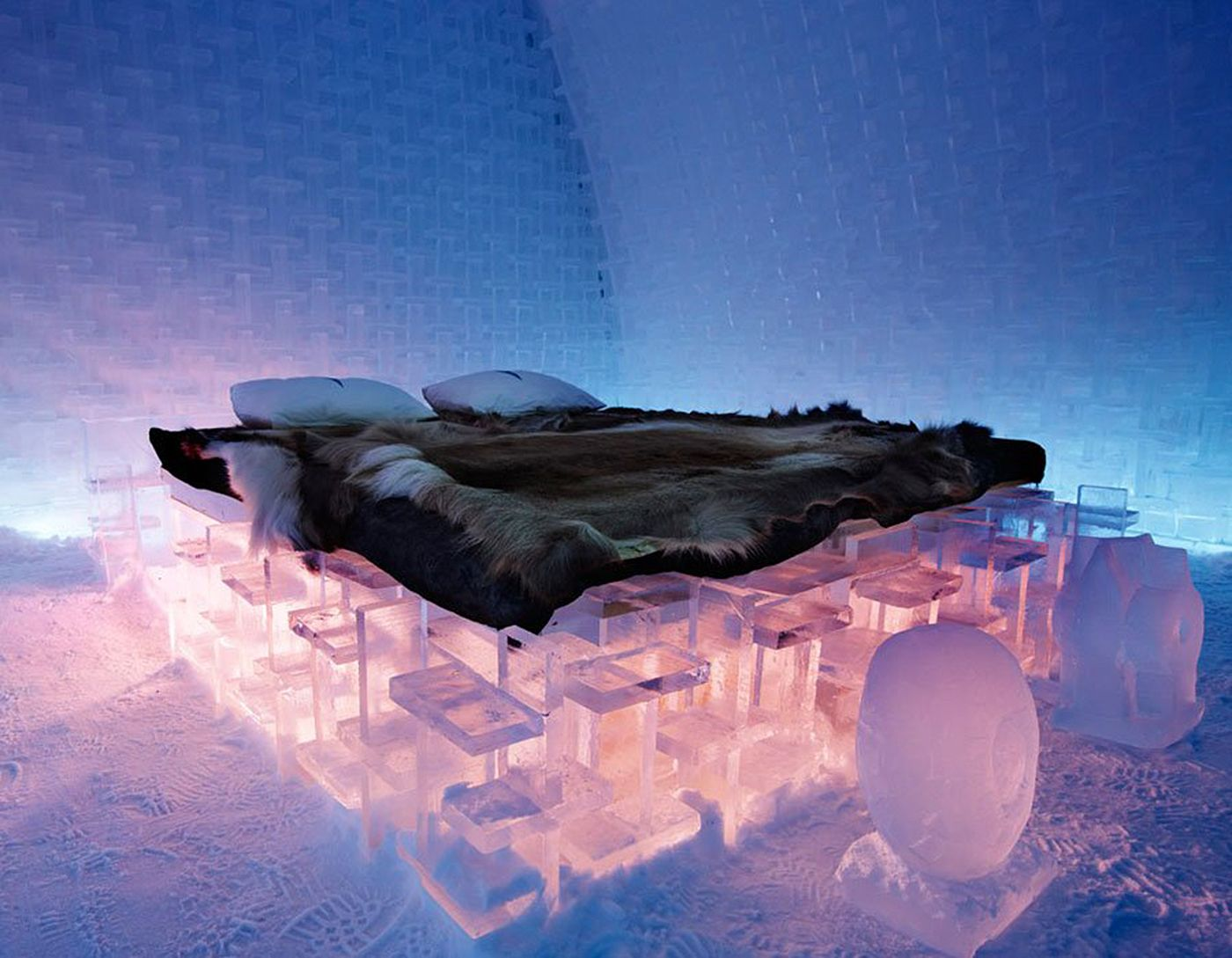 ice hotel in sweden Instead of wishing for a warm-weather tropical getaway this winter, may we suggest leaning into the cold and traveling to the world-famous ice hotel instead the ice hotel, located on the riverbank in jukkasj rvi, sweden, reopened its doors this month with 35 new and uniquely designed deluxe suites.