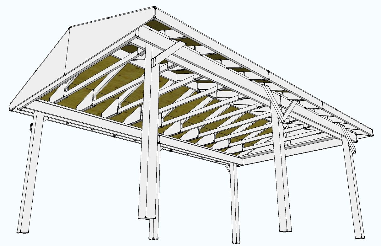 New build a detached deck built for Average cost to build a pavilion