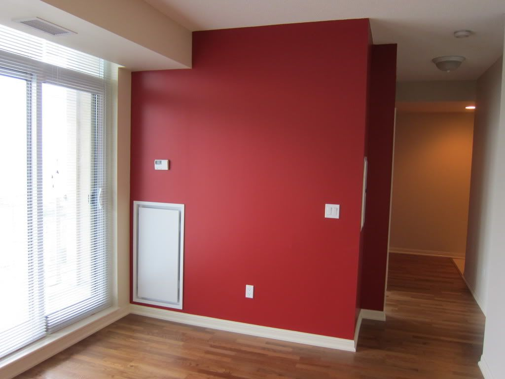Red Accent Wall Custom Of Red Wall White Trim Images