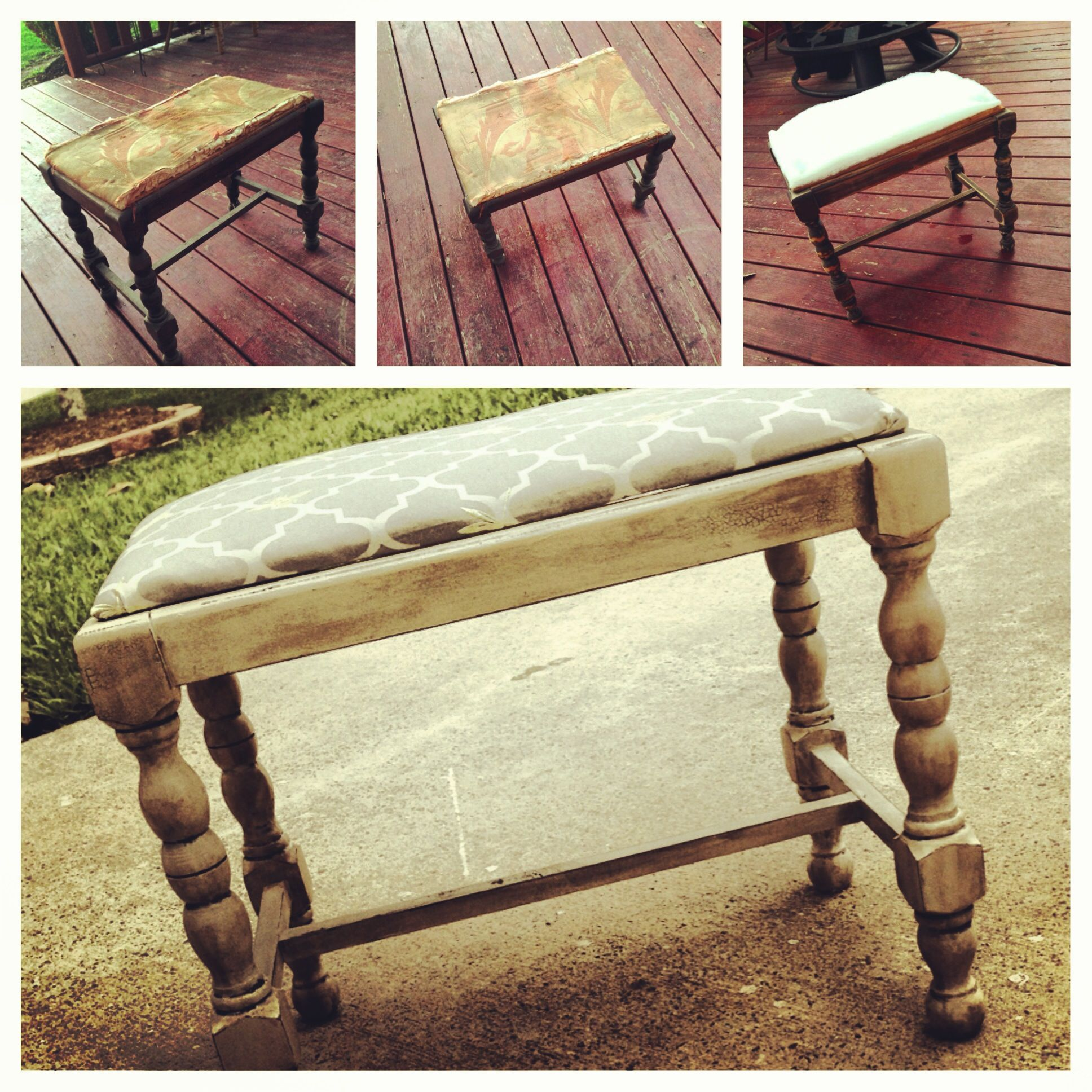 Footstool Restore For The Home Pinterest. Full resolution  photograph, nominally Width 1936 Height 1936 pixels, photograph with #708F3C.